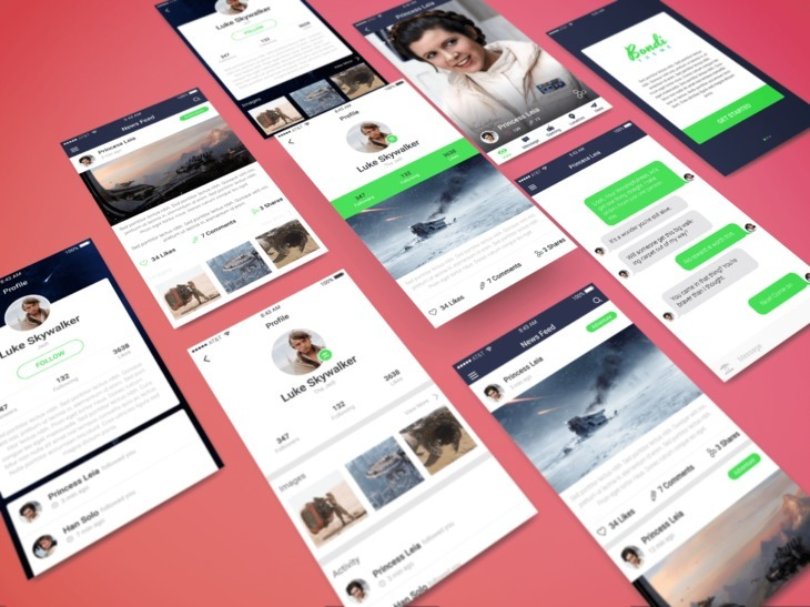 Perspective App PSD Showcase Mockup