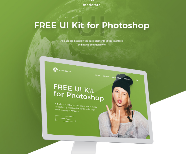 Free Material UI kit for Photoshop