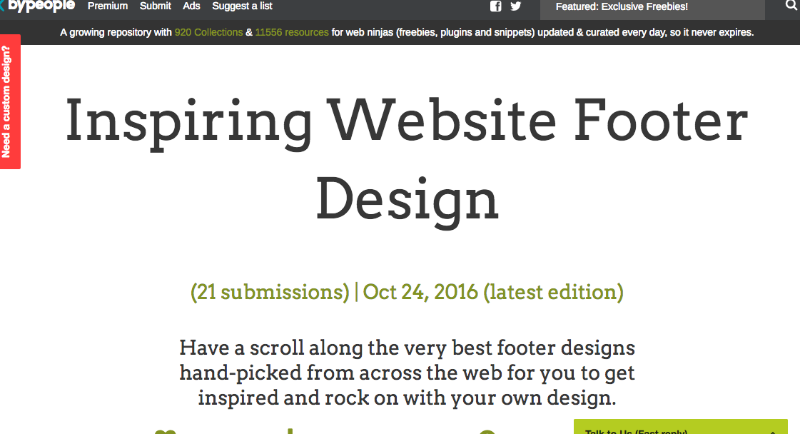 Inspiring Website FooterDesign