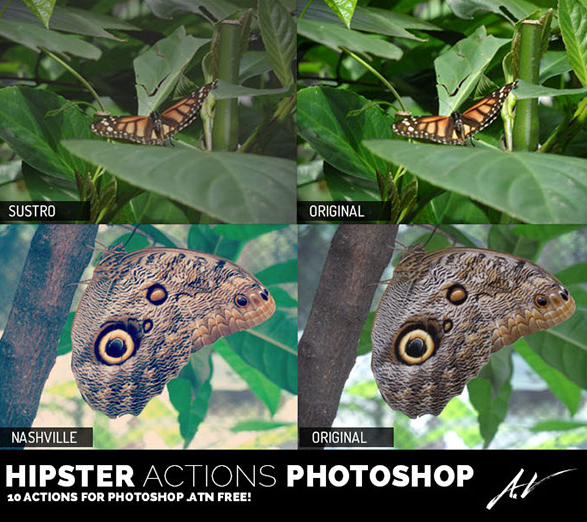 10 Hipster Actions Photoshop