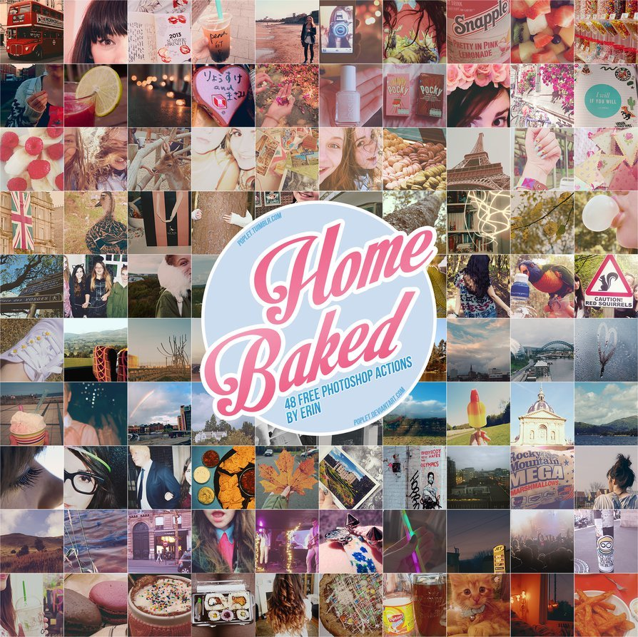 Home Baked Photoshop Actionsby poplet