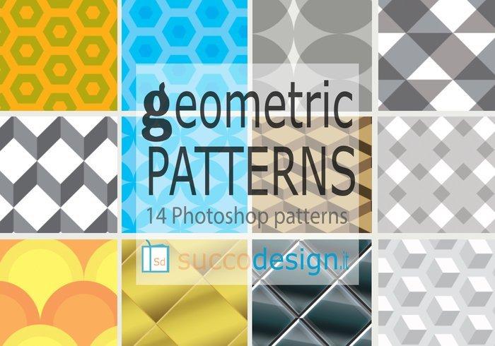 Photoshop: 14 High Resolution Geometric Patterns