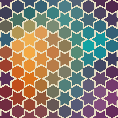 A Free Vector from Markovka- Bright Geometric Patterns