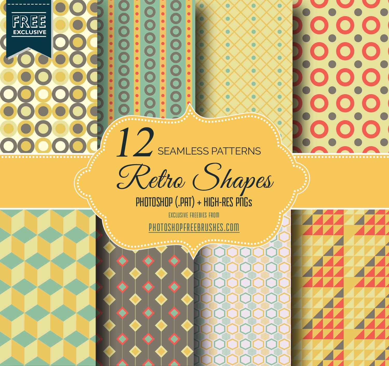 12 Geometric Retro Repeating Patterns