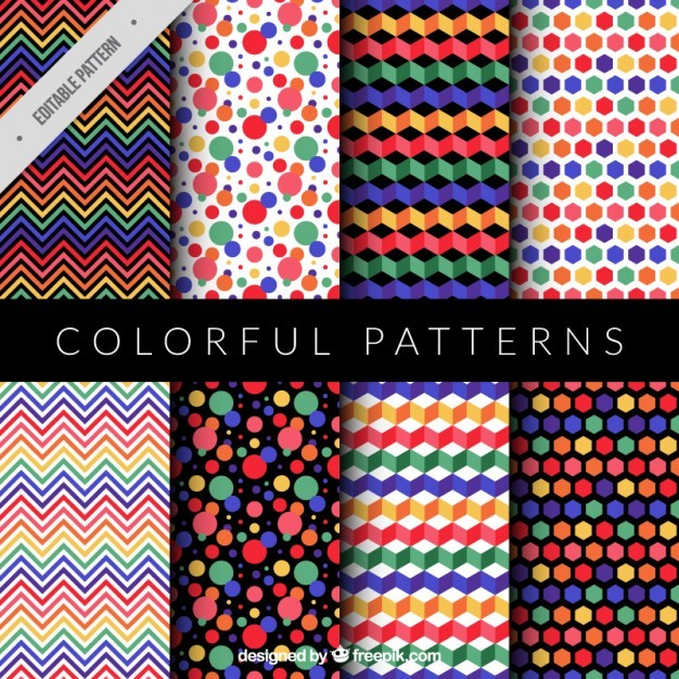 Collection of colorful and modern pattern