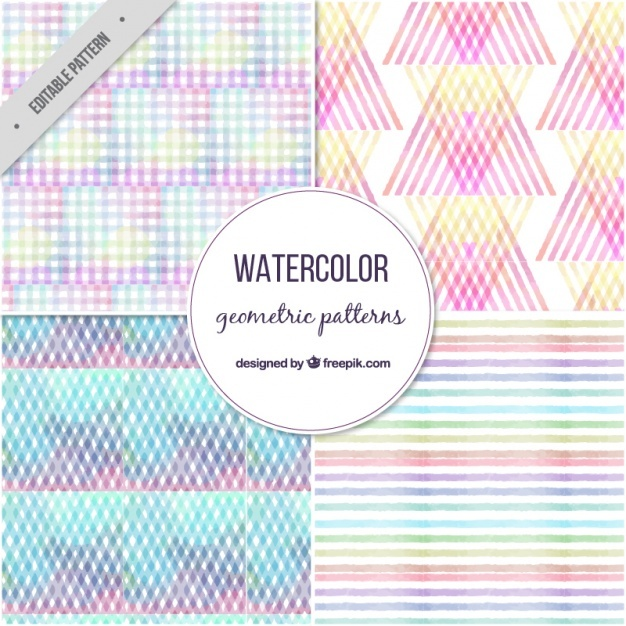 Pack of four colorful geometric patterns