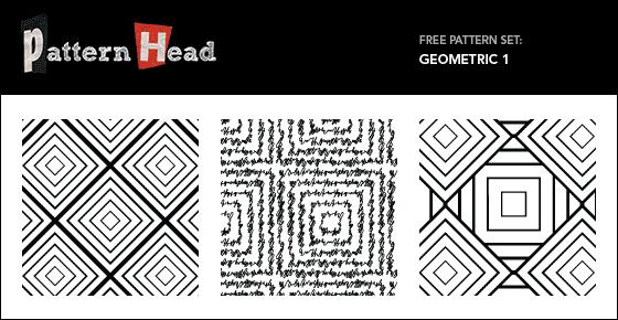 Free Seamless Vector Patterns – Geometric Set 1