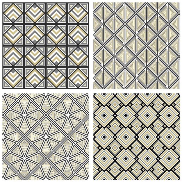 Four geometric patterns