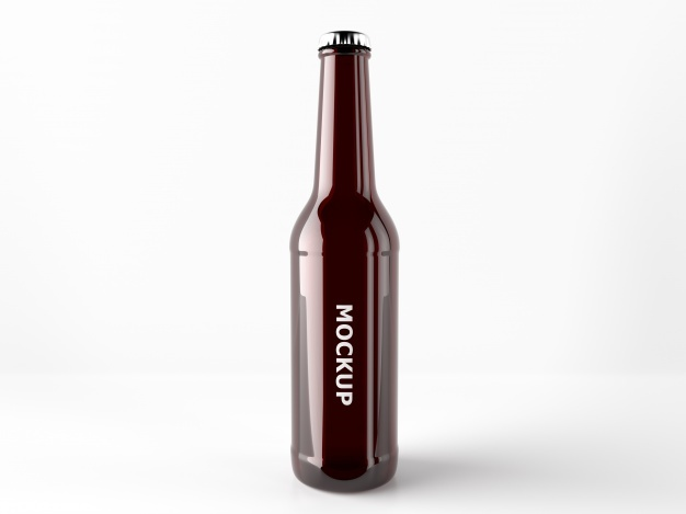 Beer bottle mock up design