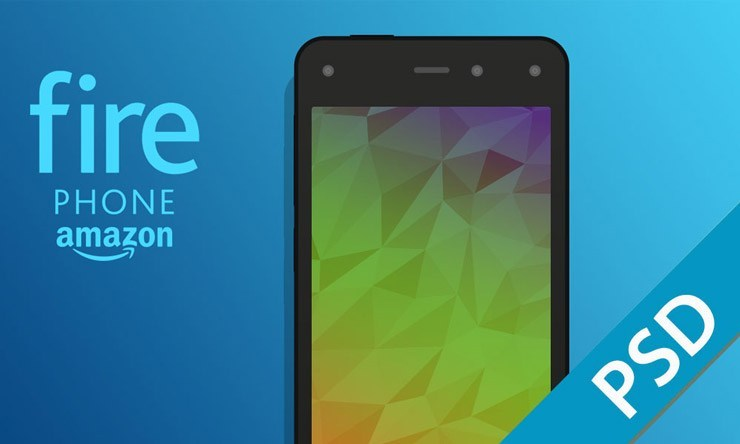 Amazon Fire Phone PSD Mockup