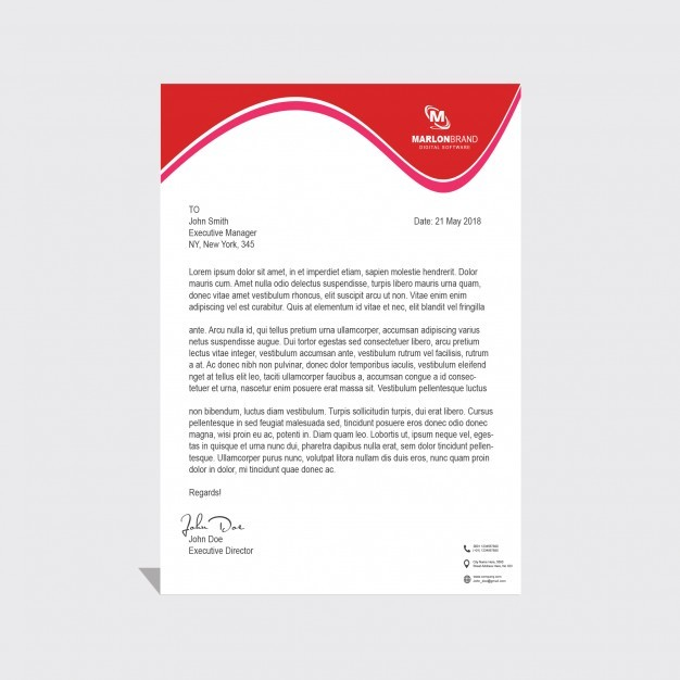 Corporate PSD Letterhead template