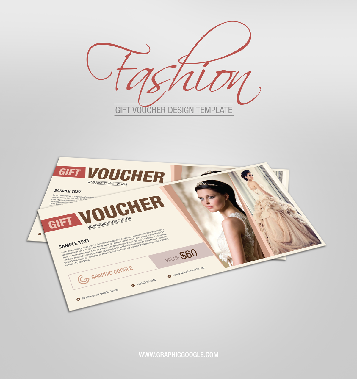 Free Fashion Gift Voucher Design Template