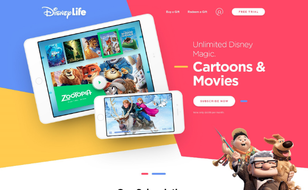 Disney Life One Page Free PSD