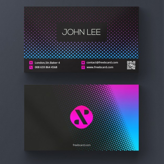 Modern business card with vibrant colors