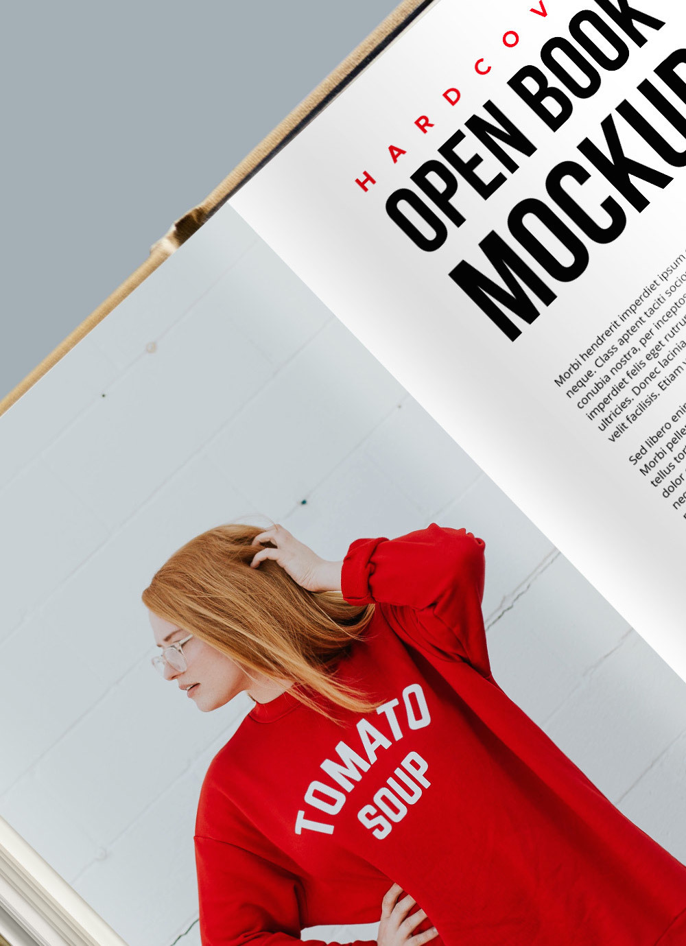 Hardcover Open Book PSD Mockup
