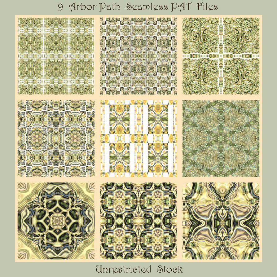 9 Arbor Path Seamless PAT Files