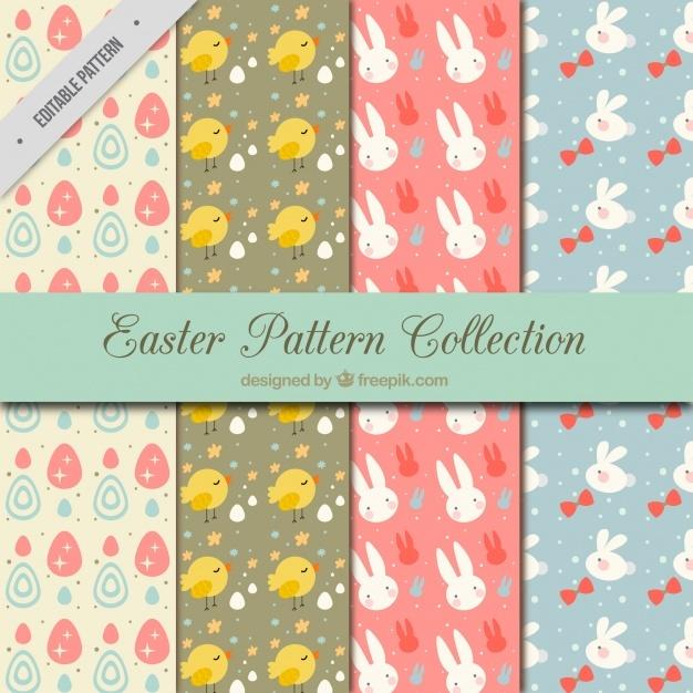 Fantastic pack of flat easter patterns