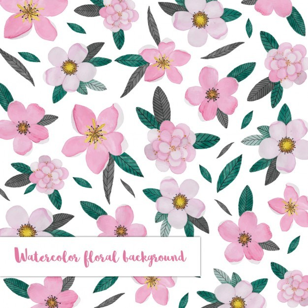 Background with a pink floral pattern