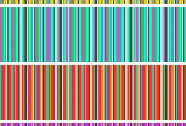 Vertical stripes free seamless vector pattern set