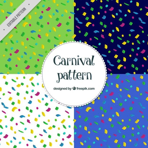 Colorful confetti patterns