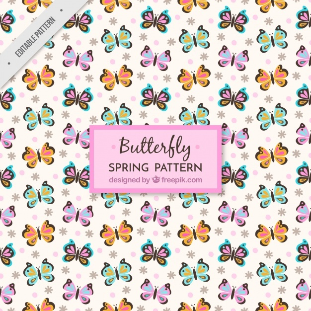 Great pattern with colorful butterflies
