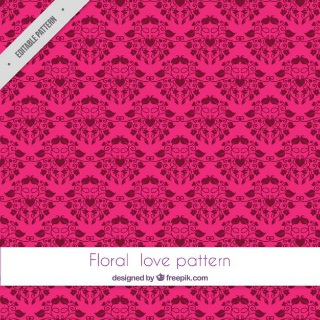 Elegant ornamental pattern of love