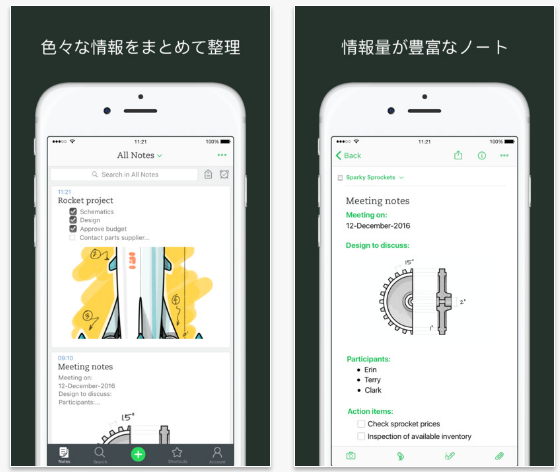 Evernote(iOS/Android)