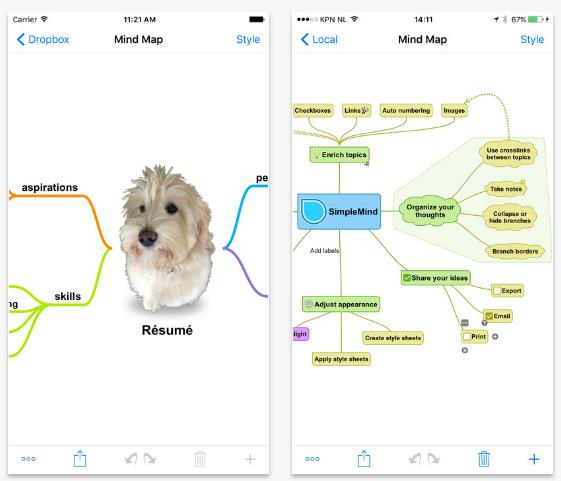 SimpleMind+ 直感的なマインドマッピング(iOS/Android)