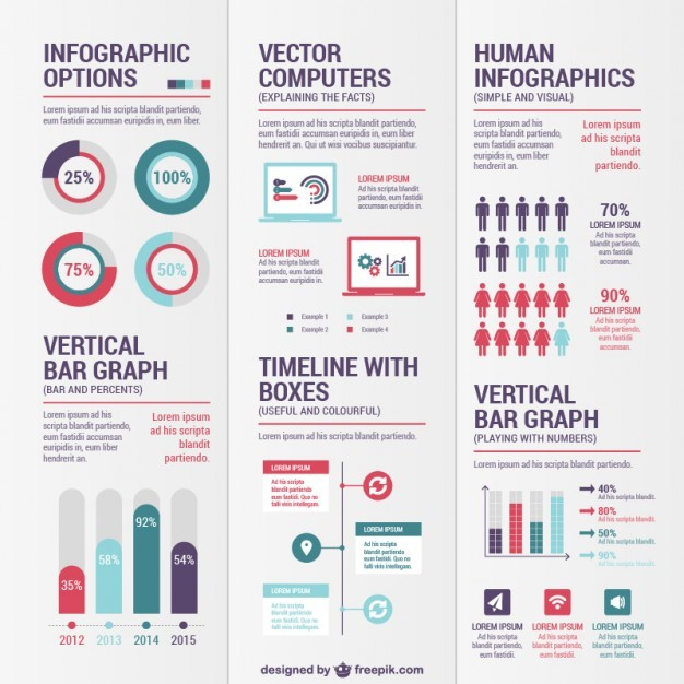 Variety of infographics