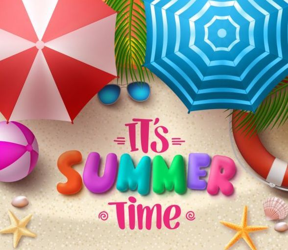 Free EPS file Cartoon summer template cute vectors 14 download