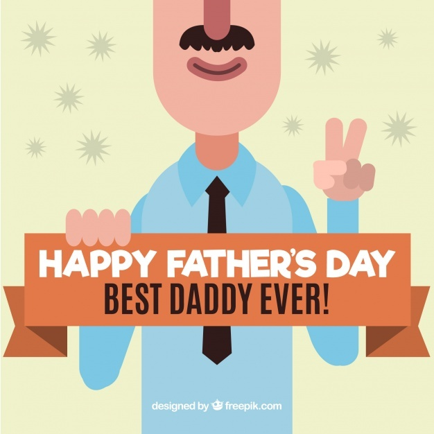 Funny father's day character greeting