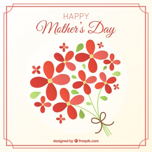 Pretty background of happy mother's day flowers