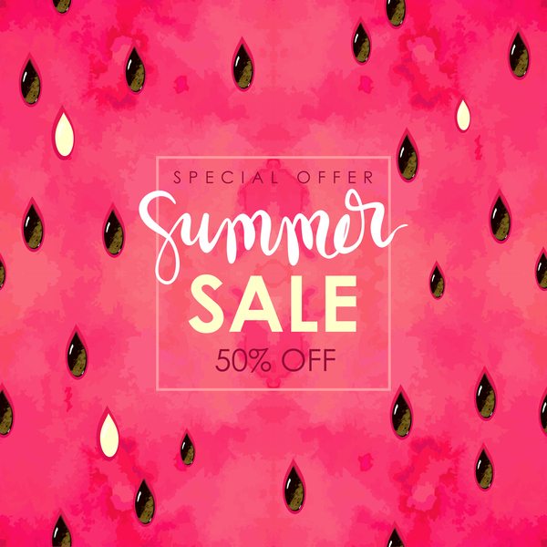 Free EPS file Summer sale background with gem vector 05 download