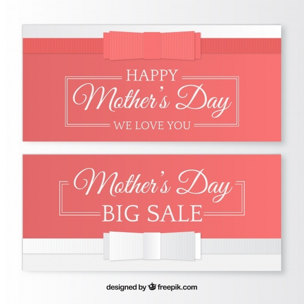 Fantastic sale banners for mother's day