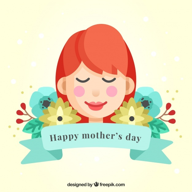 Lovely mother background with flowers