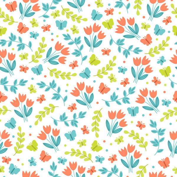 Free EPS file Cute easter seamless pattern design vector 08 download