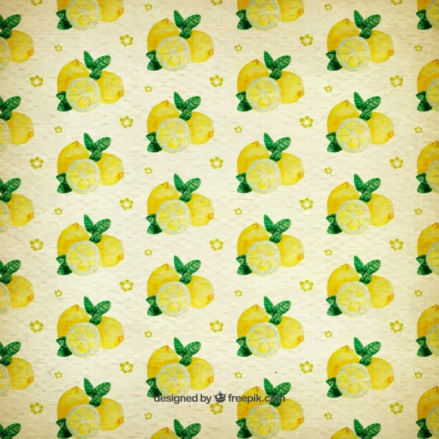 Watercolor pattern of lemons
