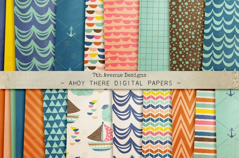 AHOY THERE DIGITAL PAPERS