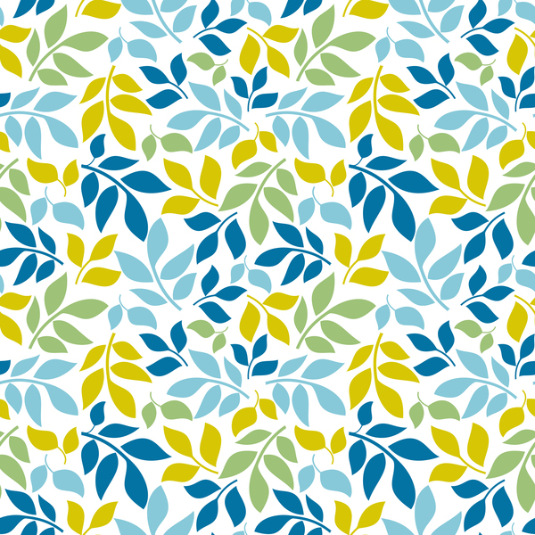 Free EPS file Cartoon leaf seamless pattern vector download
