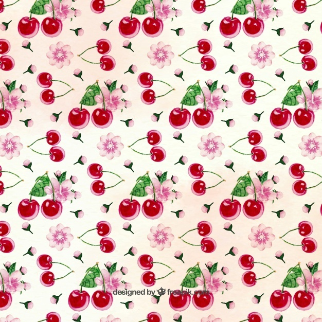 Pretty cherry pattern
