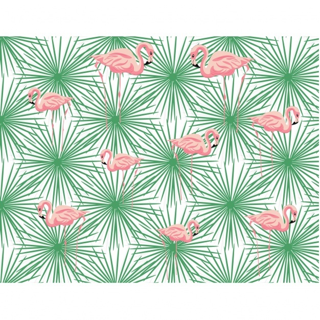 Flamingos pattern design