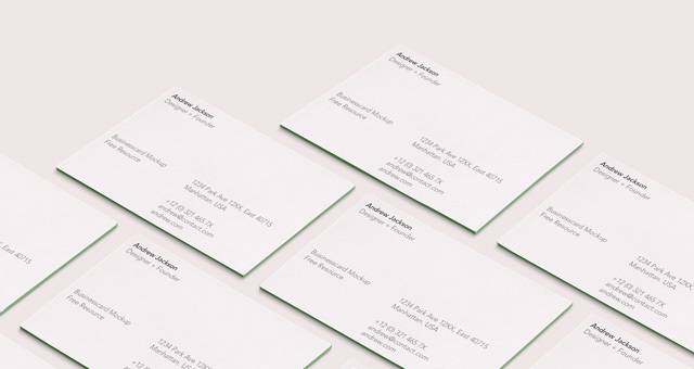 Psd Business Card Mock-Up Vol37