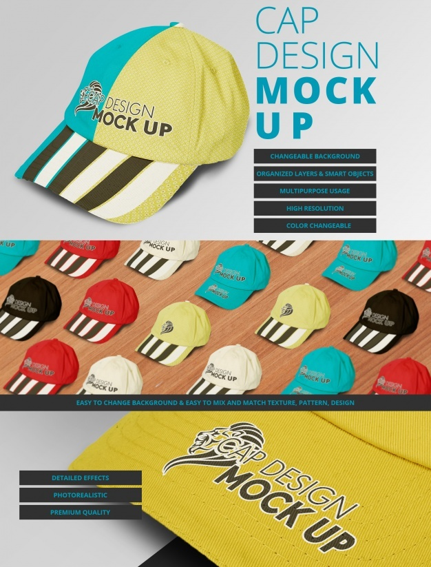 Cap mock up design