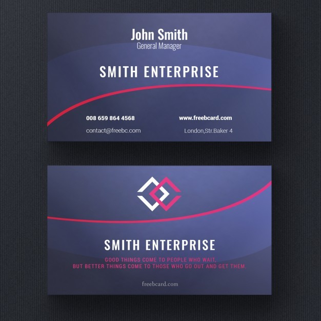 Modern red and blue corporate card