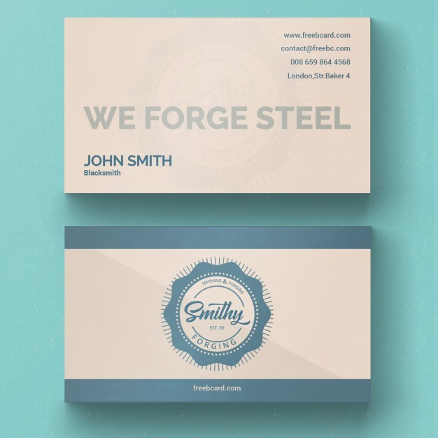 Vintage corporate card template