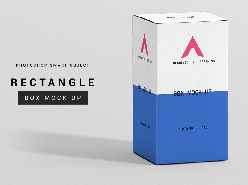 Free Rectangle Box Mockup