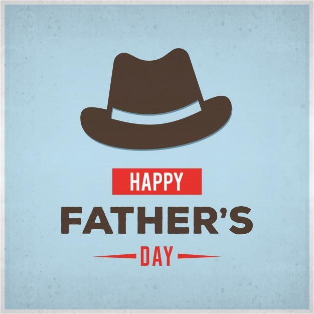 Father's day design with hat