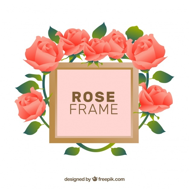 Decorative rose frame
