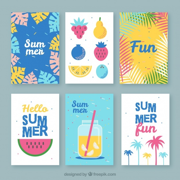 Assortment of great summer cards