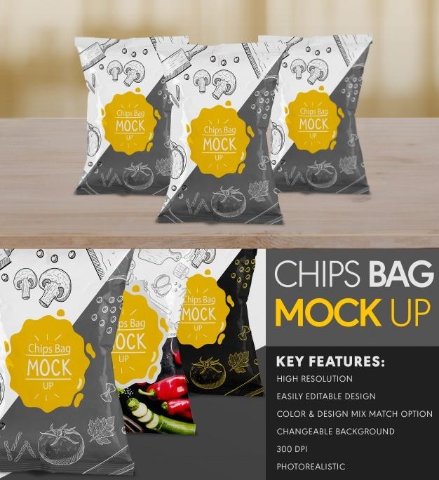 Chips bag mock up